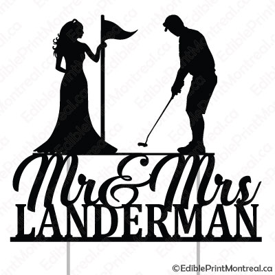051CM Mr and Mrs Golf Wedding