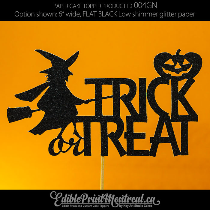 004GN Trick or Treat Cake Topper