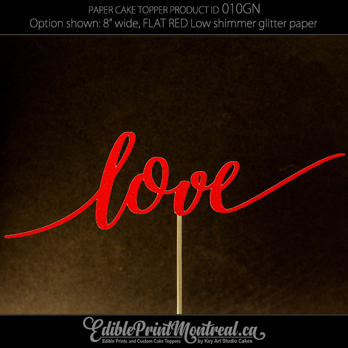 010GN Love Cake Topper
