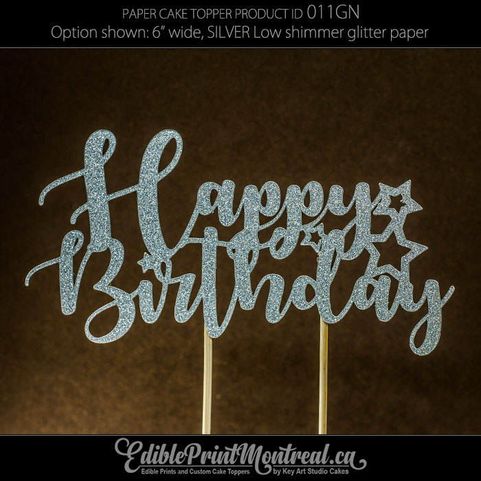 011GN Happy Birthday Cake Topper