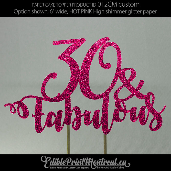 012CM Age and Fabulous Fun Cake Topper
