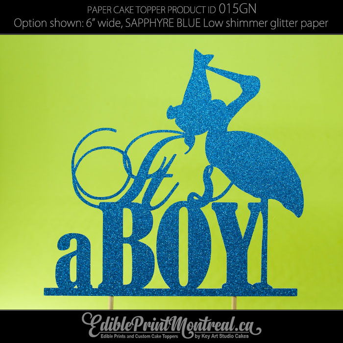 015GN Its a Boy Cake Topper