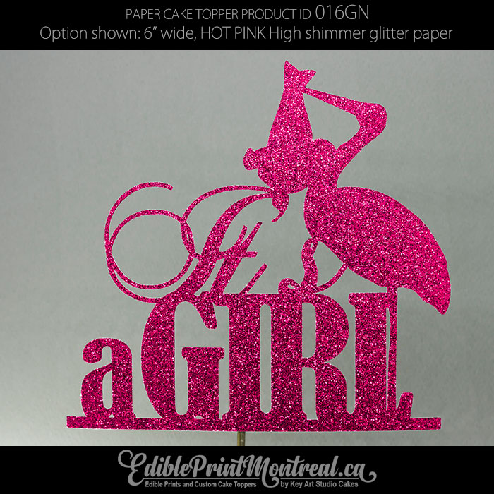 016GN Its a Girl Cake Topper