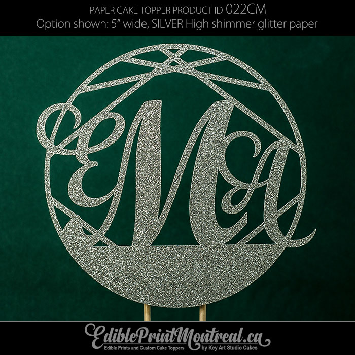 022CM Letter Wedding Monogram Cake Topper