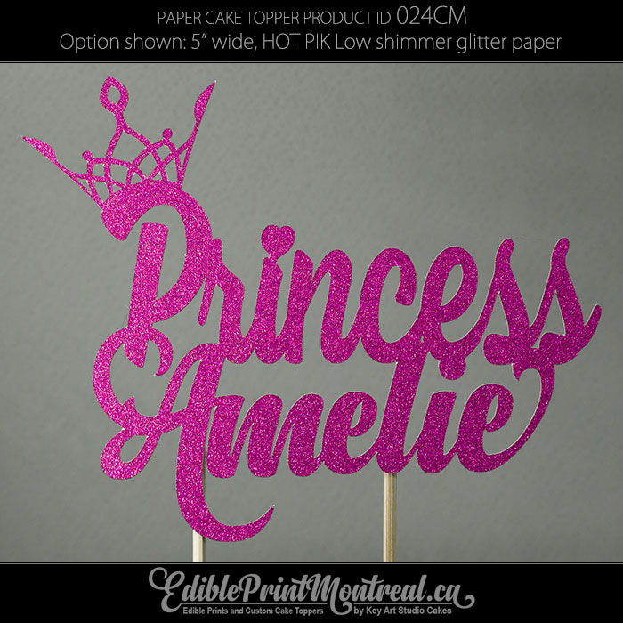 024CM Princess Name Cake Topper