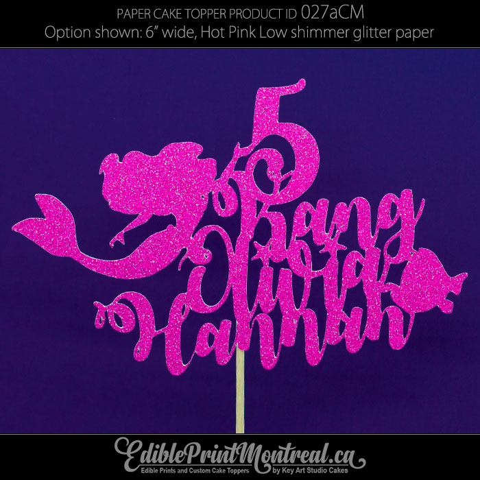 027aCM Mermaid LongName Age Cake Topper