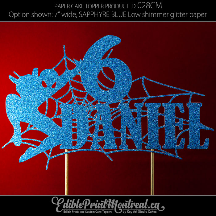 028CM Spiderman Name Age Cake Topper