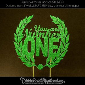 002GN You Are Number One glitter paper cake topper