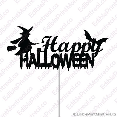 003GN Happy Halloween Cake Topper