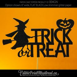 004GN Trick or Treat Cake Topper Halloween