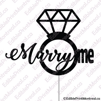 005GN Marry Me Cake Topper