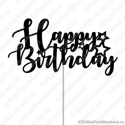 picture relating to Happy Birthday Cake Topper Printable identified as 011GN Joyful Birthday Cake Topper