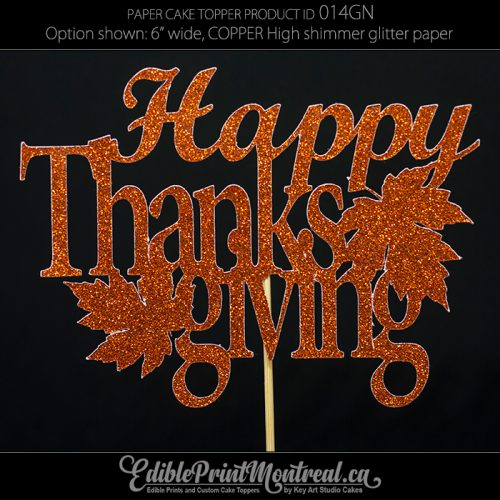 014GN Happy Thanksgiving Cake Topper