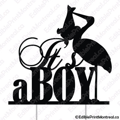 015GN Its a Boy Baby Gender Reveal Cake Topper