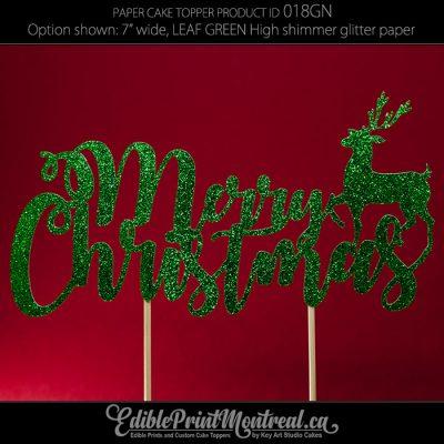 018GN Merry Christmas Cake Topper