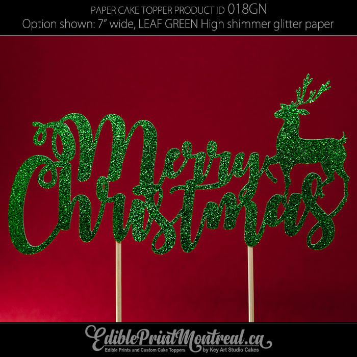018gn Merry Christmas Cake Topper Edible Print Montreal