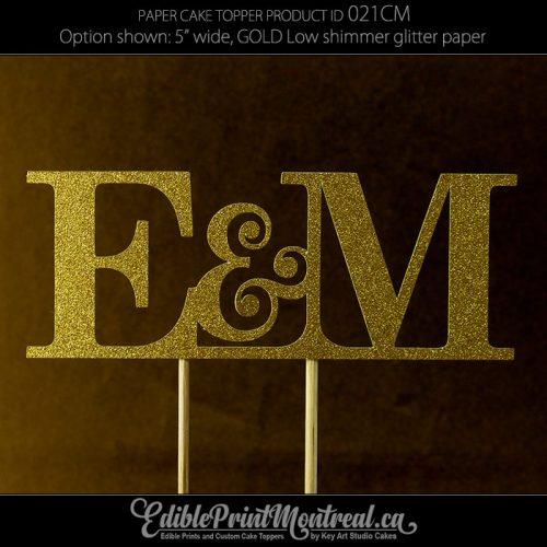021CM Letter Wedding Monogram Cake Topper