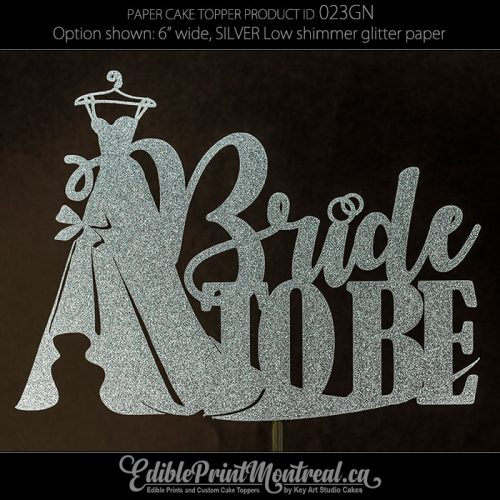 023GN Bride to be Wedding Shower Cake Topper