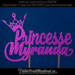 025CM Princesse Nom Cake Topper