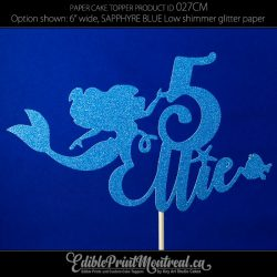 027CM Mermaid Name Age Cake Topper