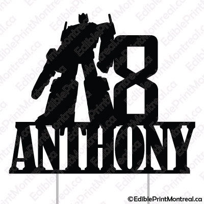 030CM Transformers Name Number Cake Topper