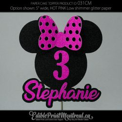 031CM Minnie Name Number Cake Topper