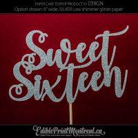 039GN Sweet Sixteen Cake Topper
