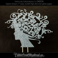 040GN Hairdresser Head Cake Topper