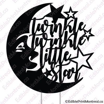 041GN Twinkle Twinkle Little Star Cake Topper