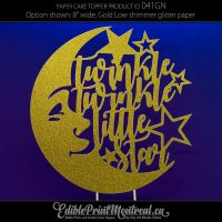 041GN Twinkle Twinkle Little Star Cake Topper