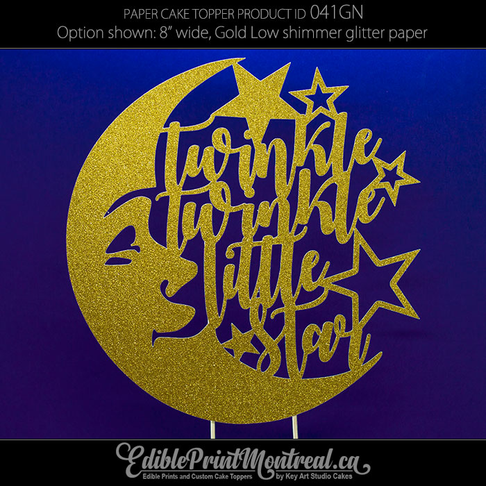 d1ba53f37 041GN Twinkle Twinkle Little Star Cake Topper • Edible Print Montreal