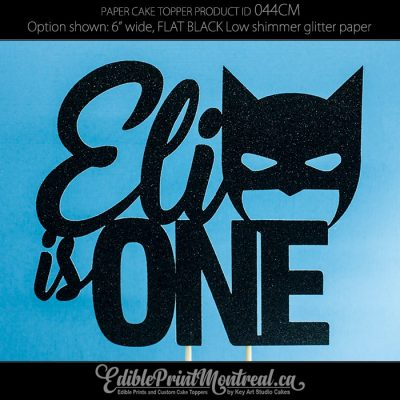 044CM Name is One Batman Cake Topper