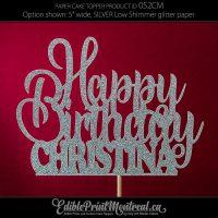 052CM Happy Birthday Name Cake Topper
