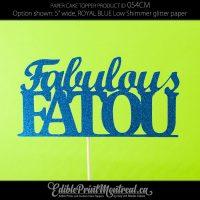 054CM Fabulous Name Cake Topper