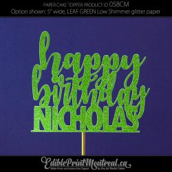 058CM Happy Birthday Name Cake Topper