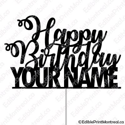 059CM Happy Birthday Name