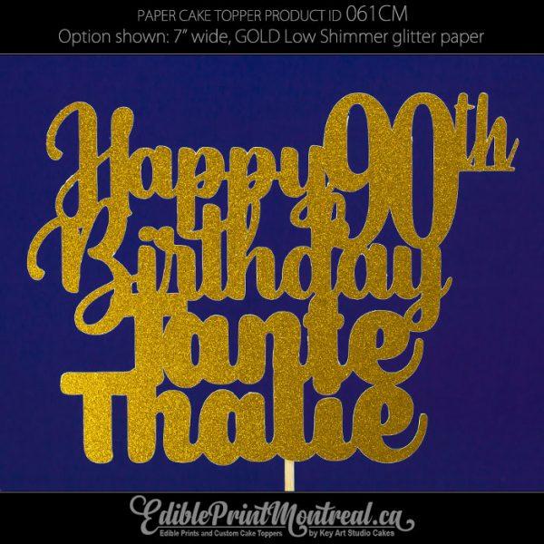 061CM Happy Birthday Age Name Cake Topper