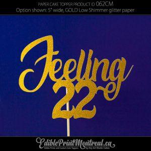 062CM Feeling Number Cake Topper