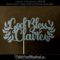 063CM God Bless Name Cake Topper