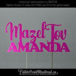 065CM Mazel Tov Name Cake Topper