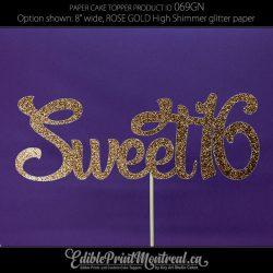 069GN Sweet 16 Cake Topper