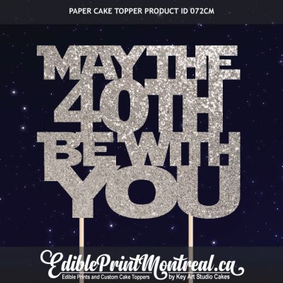072CM Star Wars May The Number Be With You Cake Topper