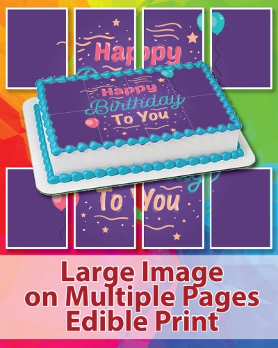Large Imag on Multiple Pages Edible Print Montreal