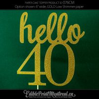 076CM Hello Number Age Cake Topper