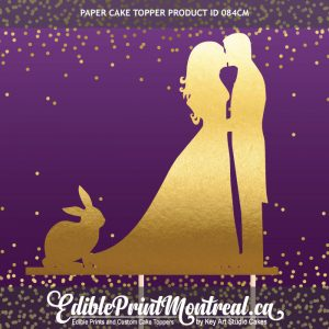 084GN Wedding Couple Rabbit Bunny Cake Topper