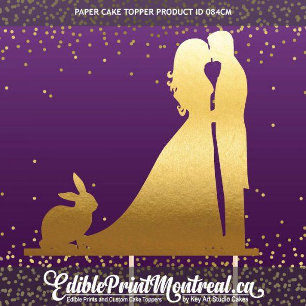 084GN Wedding Couple Rabbit Bunny Cake Topper