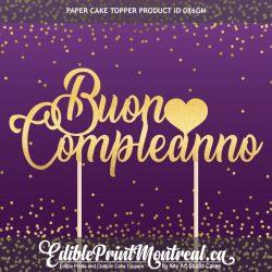 086GN Buon Compleanno Cake Topper