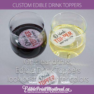 Custom Edible Drink Coffee Beer Beverage Toppers Top Melts