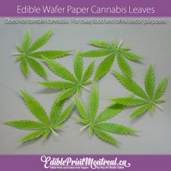 Edible Wafer Paper Cannabis Weed Marijuana Leaves