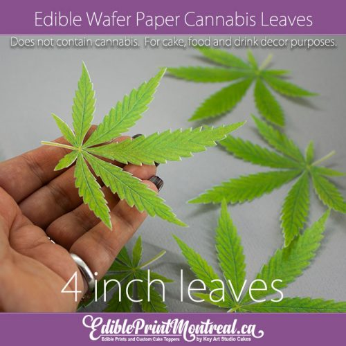 Edible Wafer Paper Cannabis Weed Marijuana Leaves